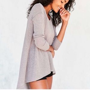 Urban Outfitters High Low Gray Lightweight Sweater